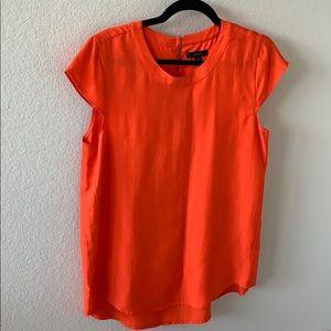J Crew Orange Textured Blouse